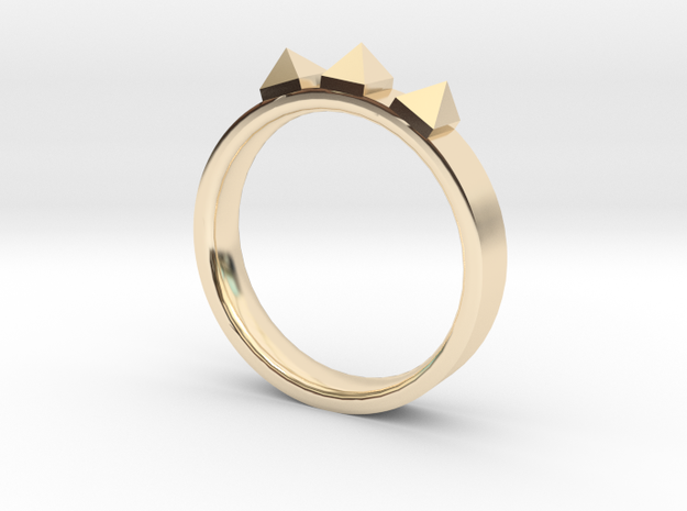 Edwardian Crown Ring - Sz. 6 in 14K Yellow Gold