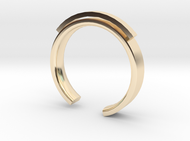 Lady Shackle Ring - Sz. 9 in 14K Yellow Gold