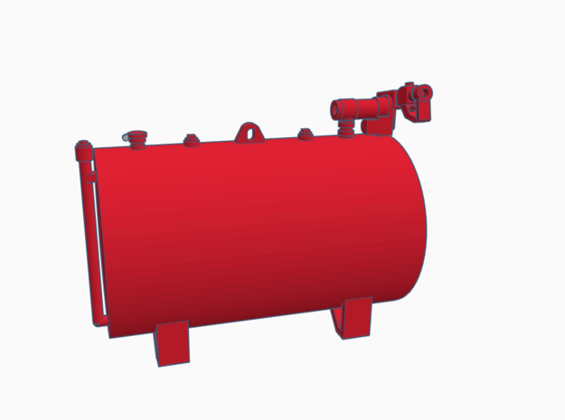 1:50 350 Gallon fuel tank  in Smooth Fine Detail Plastic