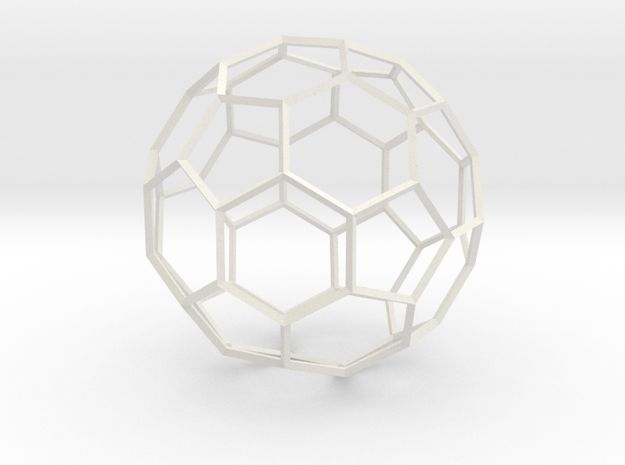Soccer Ball - wireframe in White Natural Versatile Plastic