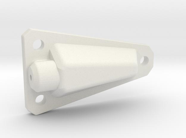 Jeep Wrangler CJ YJ Antenna mount (side) 1:10 HOLE in White Natural Versatile Plastic: 1:10