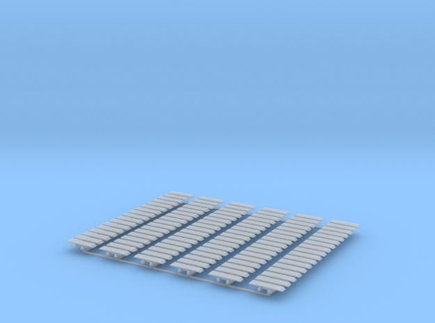 Kette 3 steg 20mm (1000mm), Turasbreite 5mm in Smooth Fine Detail Plastic