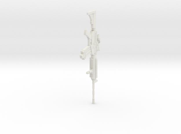 1:16 Miniature Colt M4A1 Carbine in White Natural Versatile Plastic: 1:16