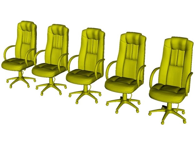 1/48 scale office chairs set A x 5