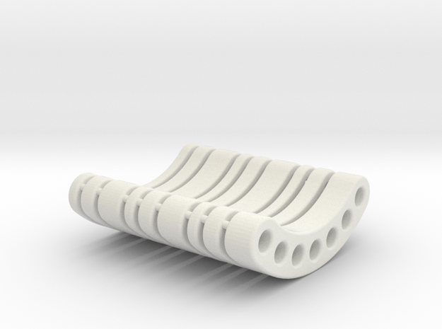 OD45-WEIGHT HOLDER-Spacers in White Natural Versatile Plastic