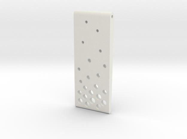 Evaporation Pendant in White Natural Versatile Plastic