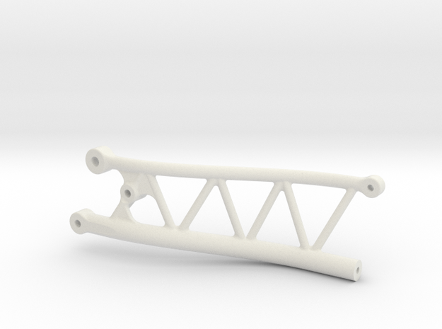 Drivers Side Yeti Jr IRS Subframe in White Natural Versatile Plastic