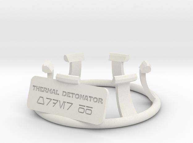 Thermal Detonator Stand for KR Sabers KR X or TD D in White Natural Versatile Plastic