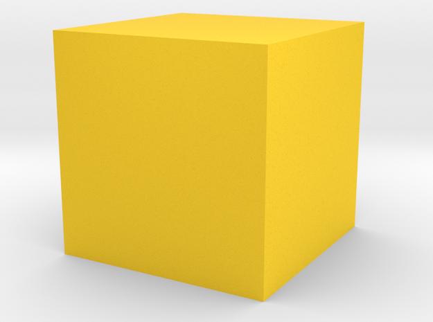 cube 1 cm in Wireless in Yellow Processed Versatile Plastic
