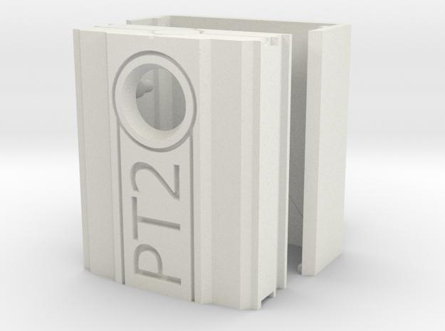PT2 Case in White Natural Versatile Plastic