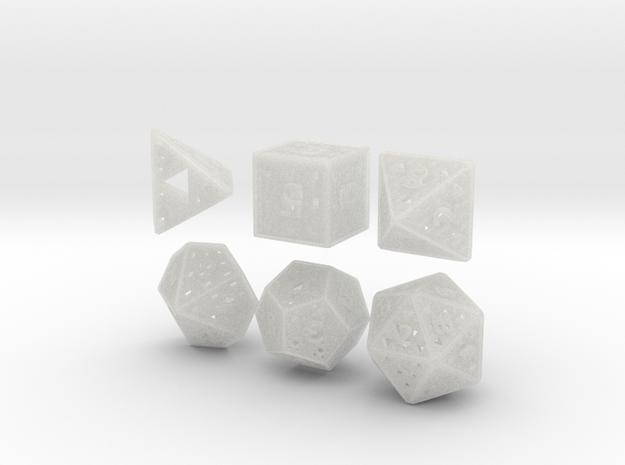 Fractal Dice 3d printed