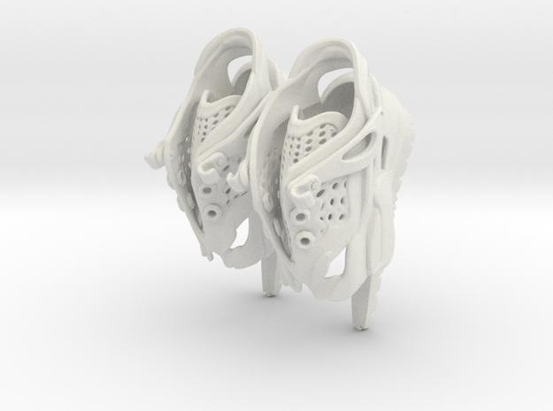 Girl-butterfly-ballet-sneaker in White Natural Versatile Plastic
