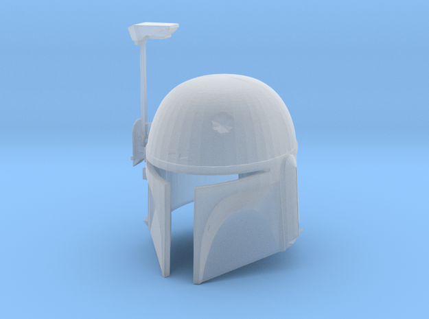 Boba Fett ESB Helmet 1/12th Scale Without Visor in Smooth Fine Detail Plastic
