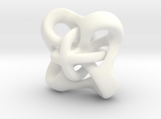 Twirly pendant in White Processed Versatile Plastic