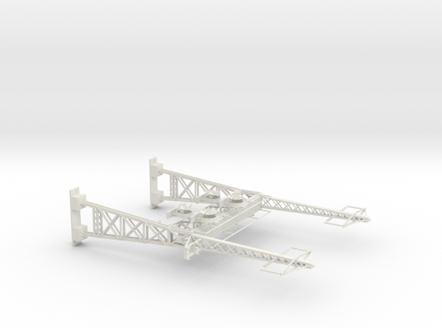 HO Scale PRR W--signal LATTICE 2 Track  W 2 PHASE  in White Natural Versatile Plastic
