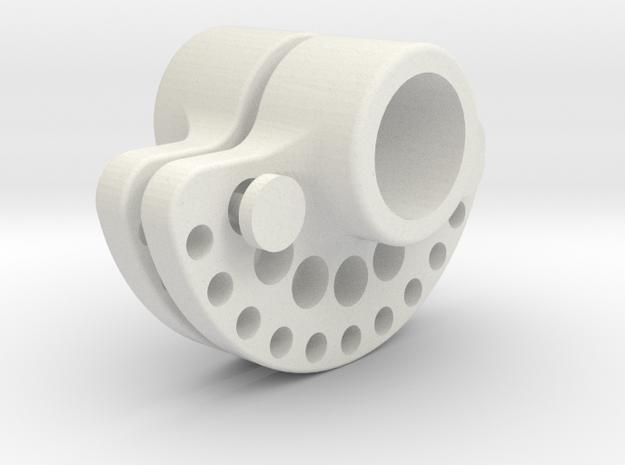 OD45-SUPPORT LEST  AR-V1- NON Splined- ID 13mm X2 in White Natural Versatile Plastic