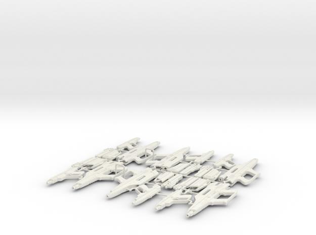 1/6 STARLYTE PISTOL & RIFLE X6 in White Natural Versatile Plastic