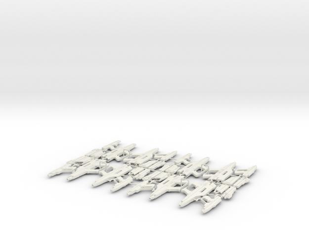 1/6 STARLYTE PISTOL & RIFLE X8 in White Natural Versatile Plastic