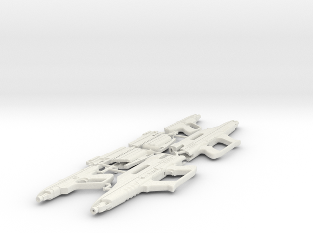 1/6 STARLYTE PISTOL & RIFLE X2 in White Natural Versatile Plastic