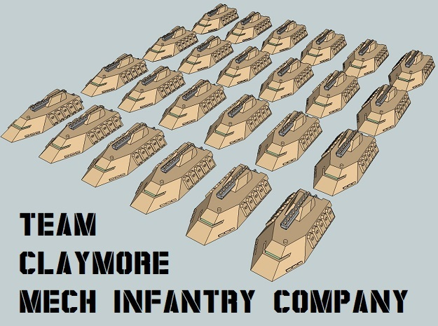 """Team Claymore"" 3mm Anti-Grav IFVs (24pcs) in Smooth Fine Detail Plastic"