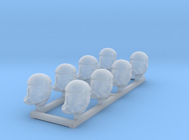 Vanguard Trooper Heads in Smooth Fine Detail Plastic
