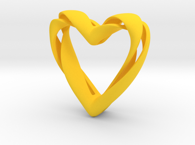 Twisted Heart pendant 3d printed