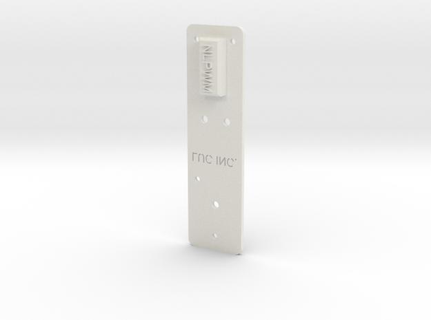 "NLPWM Template (1/8"" Holes"" in White Natural Versatile Plastic"