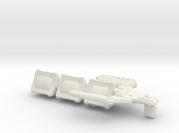 D'Spense Class Transport - 6 inch  in White Natural Versatile Plastic