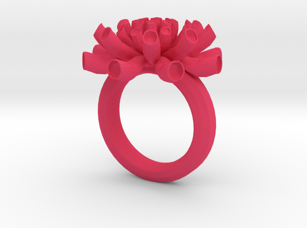 Sea Anemone Ring 18.5mm in Pink Processed Versatile Plastic