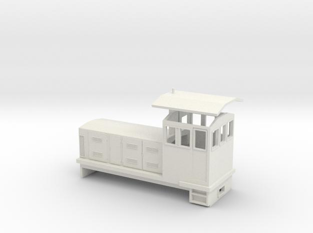 "HOn30 Endcab Locomotive (""Phoebe"") in White Strong & Flexible"