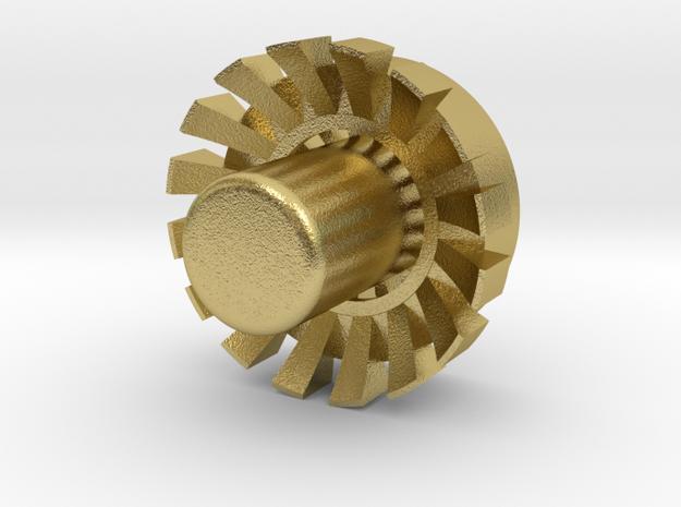 """Blade Plug (OP) 7/8"""" V01D in Natural Brass"""