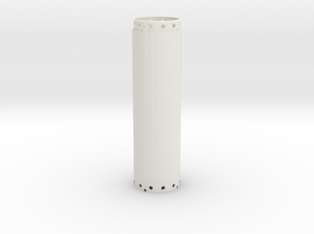 Casing joint 1200mm, lenght 4,00m in White Natural Versatile Plastic