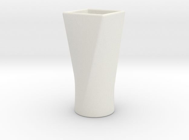Twist Cup I in White Natural Versatile Plastic