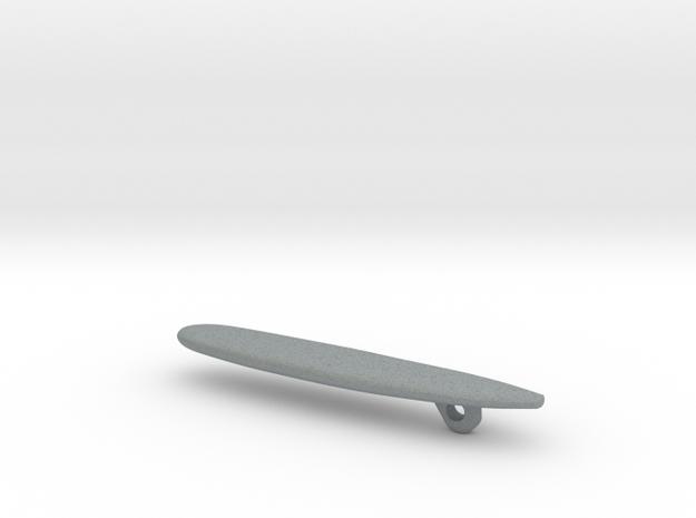 """Malibu"" Longboard Surfboard Pendant 3d printed"