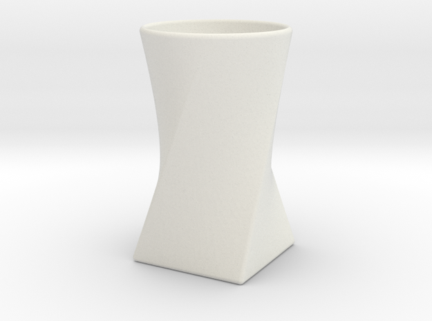 Twist Cup II in White Natural Versatile Plastic