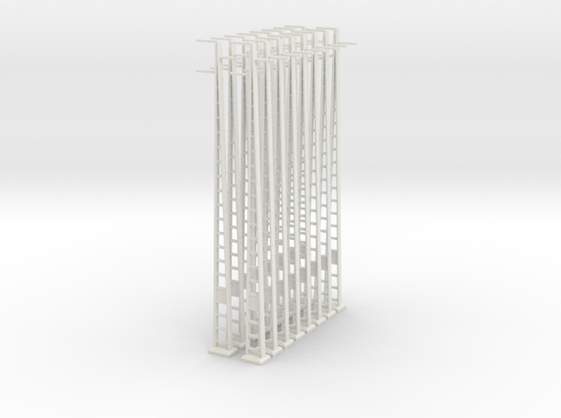Strommast 25Kv 16x 1:160 in White Natural Versatile Plastic
