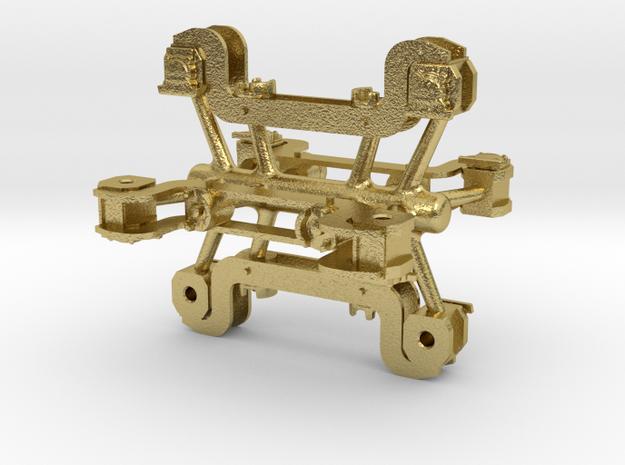 S Scale 2D-F32 Brass Spanner Bars/ Shocks 2 PK in Natural Brass