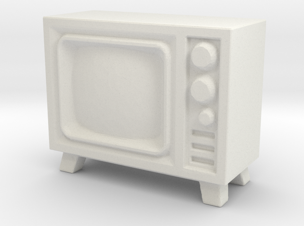 Old Television 1/35 in White Natural Versatile Plastic