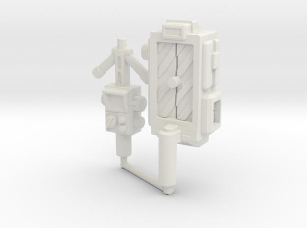 Ectotron Gear (5mm) in White Natural Versatile Plastic