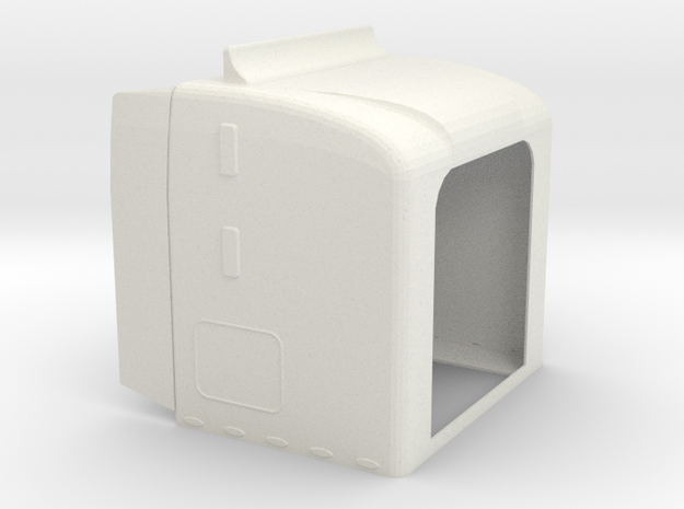 1/16 Semi Sleeper in White Natural Versatile Plastic