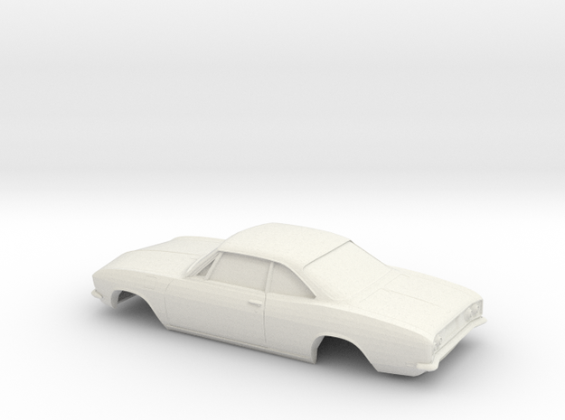 1/16 1969 Chevrolet Corvair Monza Shell in White Natural Versatile Plastic