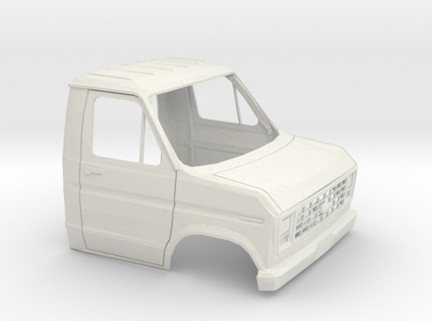1/16 1975 -91 Ford E-Series Cab Shell in White Natural Versatile Plastic