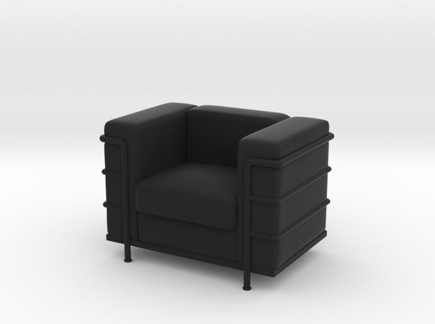 Le-Corbu-Sofa-Mini-03 in Black Natural Versatile Plastic