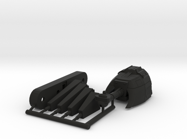 6k L13 Fat man Battleship in Black Natural Versatile Plastic