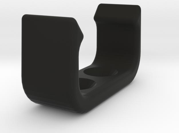 Tiller extension clip in Black Natural Versatile Plastic