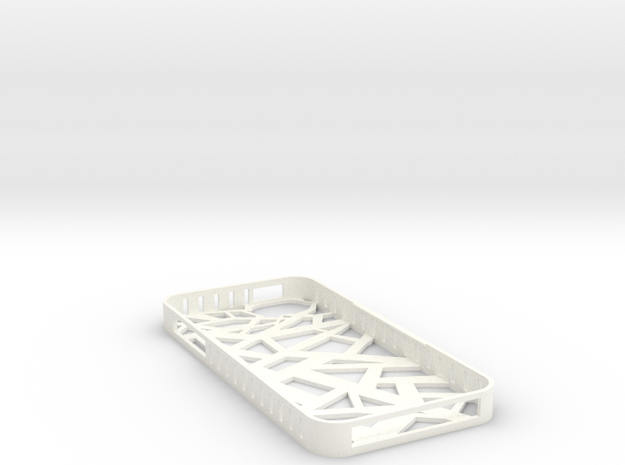 Iphone 5/5s Stix Case in White Strong & Flexible Polished