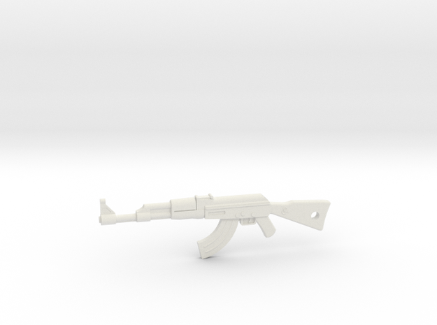 AK-47 Pendant in White Natural Versatile Plastic