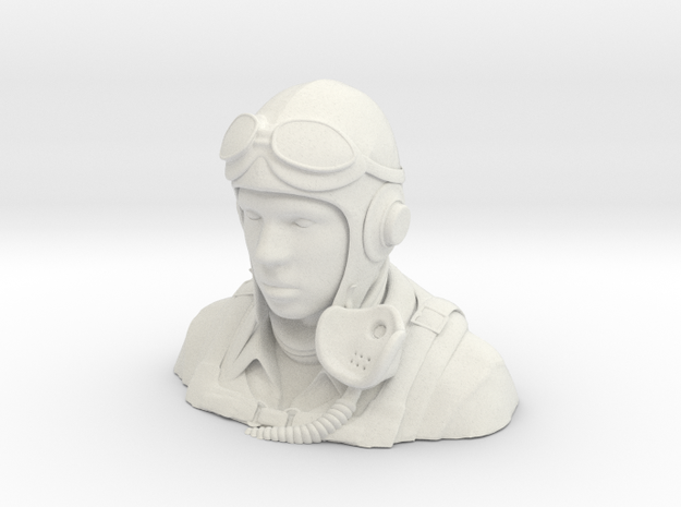 Warbird Pilot Figure 1/4 in White Natural Versatile Plastic