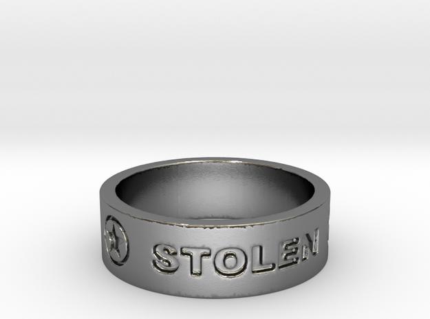 58 STOLEN V2 Ring Size 7 in Polished Silver