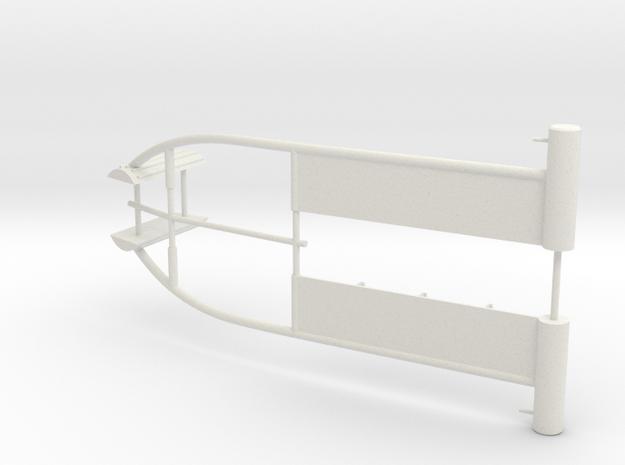 SHOALBUSTER  2609 - cargorail aft (2 pcs) in White Natural Versatile Plastic